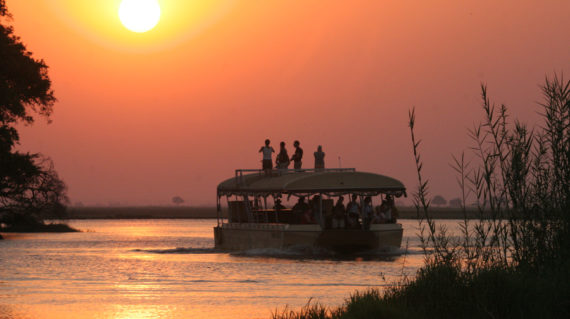 Sunset boat safari