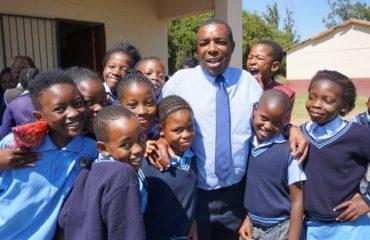 Coromandel Primary Kids and Teacher